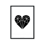 """Black Diamond Heart"" Plakat"