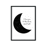 """to the moon"" Plakat A4"