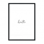 """breathe"" Plakat"