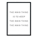 """the main thing"" Plakat"
