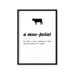 """a moo-point"" Plakat"