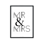 """Mr & Mrs"" Plakat"