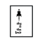 """Sky Is The Limit"" Plakat A4"