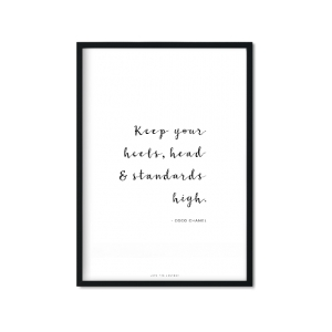 """Keep your head high"" Plakat"