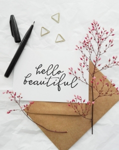 """hello beautiful"" Flatlay"