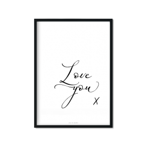 """Love you"" Plakat"