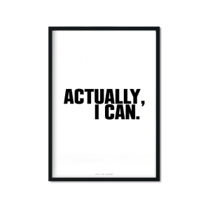 """I Can"" Plakat"