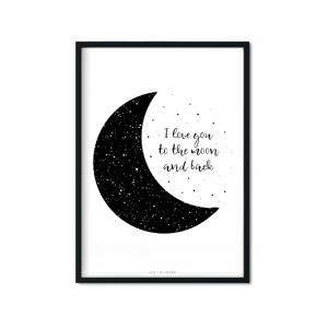 """to the moon"" Plakat A3"
