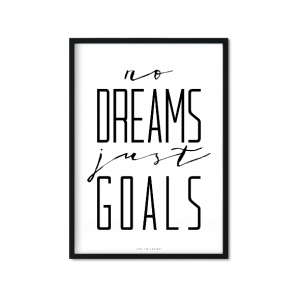 """just GOALS"" Plakat"