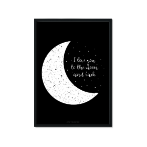 """to the moon (II)"" Plakat"