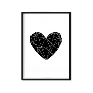 """Black Heart"" Plakat"