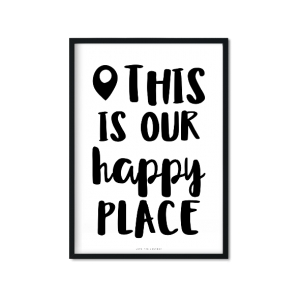 """Happy Place"" Plakat"